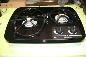 Atwood 2 burner propane stove, counter top drop-in, great condition cook top