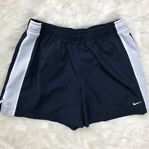 Nike Running Shorts Women's Small 2-4 Navy White Stripe Workout Athletic