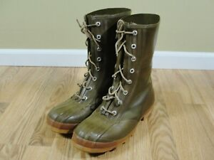 Vintage Mens Insulated Anti Freeze Converse Green Rubber hunting boots size 9