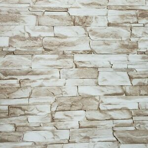 Wallpaper textured brown white modern faux realistic sandstone stone texture 3D $39.99