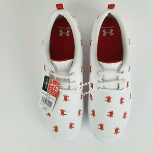 NWT UNDER ARMOUR Size 13 Mens Critter Encounter IV CRAB Slip On Shoes White New