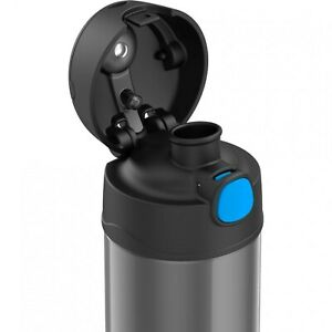 NEW Thermos FUNtainer 16 oz. ounce Stainless Steel Water Bottle with Spout