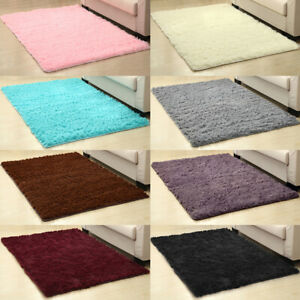 Fluffy Rugs Anti Skid Shaggy Area Rug Living Room Bedroom Floor Mat Carpet 6Size $6.99