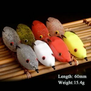 Soft Frog Fishing Lure Snakehead Single Hook 60MM 15.4G Artificial Bait Floating
