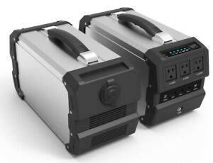444Wh Lithium Generator for Camping and Emergency with 110V 400W and 12V Outputs