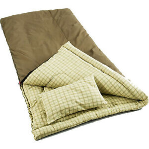 Coleman Big Game -5 Degree Canvas Sleeping Bag Outdoor Camping Gear Cold New