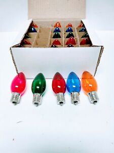 C 9 Christmas Light Replacement Bulbs Multi Color Lights 25 Bulbs