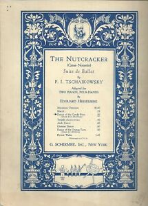 The Nutcracker Two Piano Dance of Candy Fairy Music Sheet 1940#x27;s Tchaikovsky $13.45