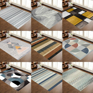 Contemporary Modern Soft Area Rugs Nonslip Velvet Home Room Carpet Floor Mat Rug
