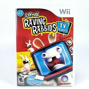 RAYMAN RAVING RABBIDS TV PARTY WII COMPLETE CIB Excellent condition