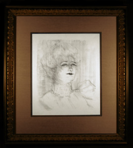 Marie-Louise Marsy Original 1898 Lithograph by Toulouse-Lautrec Framed