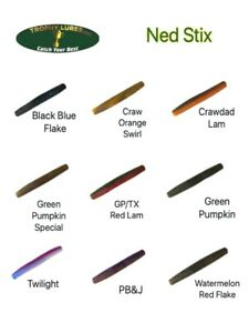 Trophy Lures 2.75quot; Ned Stix TRD style Ned Rig Worm Choose Color