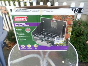 Coleman Two Burner Dual Fuel Camping Stove 424 700 Never Used  NEW IN BOX !!!
