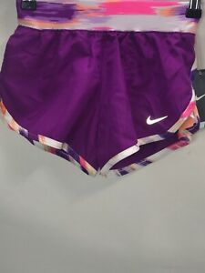 Nike Girls Shorts Size 6 Regular Purple Polyester Dry Fit New Athletic Bottoms