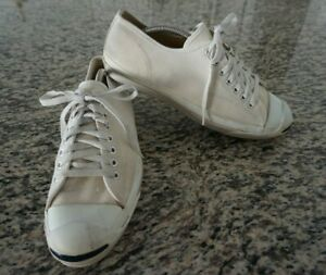 VINTAGE Converse Jack Purcell Cream Canvas Posture Foundation Shoes Mens USA 10