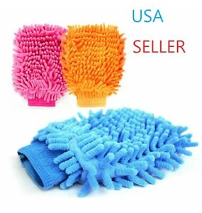 Brand New Super Microfiber Cleaning Glove Mitt Dust Cleaning Towel Multi Use