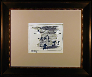 Banderillas Original Lithograph by Pablo Picasso Master of 20th Cent Modern Art