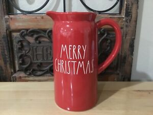 Rae Dunn Red Merry Christmas Pitcher