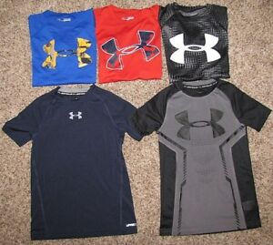 Under Armour Shirt Boys XS Short Sleeve