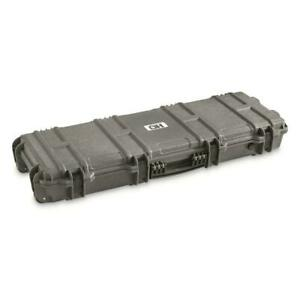 HeavyDuty Tactical Hard Rifle Case Customize Padding Lockable Gun Storage GRAY