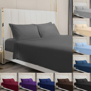 4 Piece Bed Sheet Set 1800 Count Egyptian Bed Sheet Deep Pocket Full Queen King $21.99