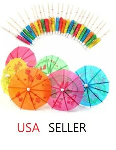40 PCS Cocktail Umbrellas Picks for Drink Party Supplies Cocktail Drinks Picks