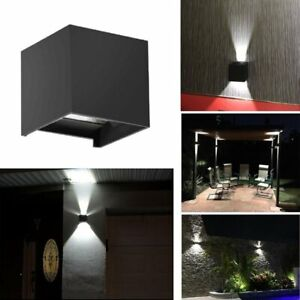Modern 12W LED Wall Light Up Down Cube Outdoor Indoor Sconce Lighting Lamp