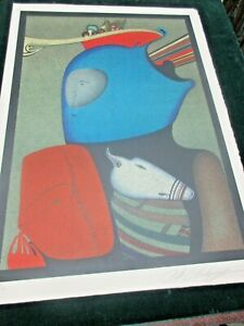 MIHAIL CHEMIAKIN quot; MASK WITH STILL LIFE quot; SIGNED LITHOGRAPH $1900.00