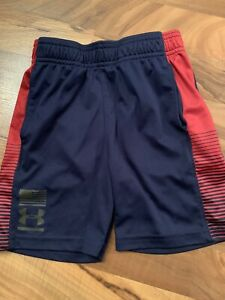 UNDER ARMOUR TODDLER BOYS SHORTS SZ.4 Navy Blue Red