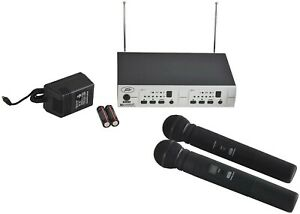 Peavey PV16DR UHF DUAL Handheld Wireless Microphone System #03011540 $379.99