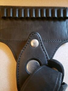 Vintage Patrol Bucheimer Leather Holster with Bullet Loops
