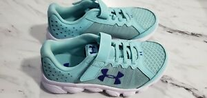 NEW Girls Under Armour shoesize 13k running shoes Tealpurple