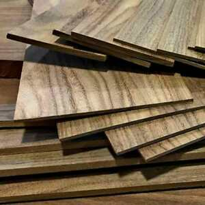 BLACK WALNUT 1 4quot; x 8quot; x 12quot; Thin Wood Lumber Board Scroll Craft Pack of 5 or 10