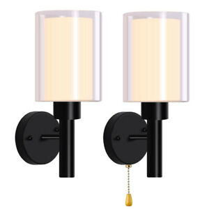 LED Glass Wall Sconce Lighting Lamp Modern Wall Light Fixture Lamp Cup Bedroom