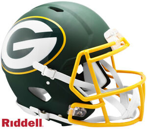 Green Bay Packers Full Size AMP Authentic Speed Helmet New In Box 25767