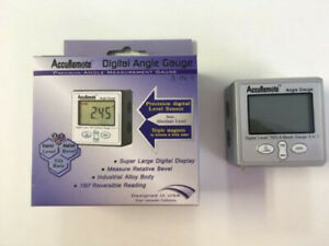 Accuremote Angle Cube Digital Angle Protractor Inclinometer Electronic Gauge $32.00