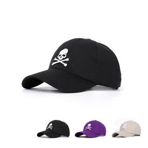 PIRATE Baseball Cap Skull & Crossbones Bones EMBROIDERED Men Women