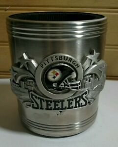 Pittsburgh Steelers Metal CanCup Koozie Insulated Tailgating Camping Race Track