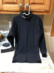 Under Armour ColdGear Mock Fitted Long Sleeve Shirt Women's Size Small 4-6 Black