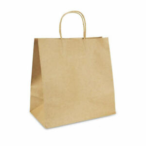 11x5.9x11quot; Kraft Paper Bags 100pcs Gift Bag with Handles for Shopping