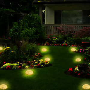 4PCS 8 LED Solar Power Light Outdoor In Ground Lawn Pathway Waterproof Lamp $28.96