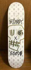Stussy Skateboard Deck White Purple Red Skull GOODS Genuine Rare From Japan New