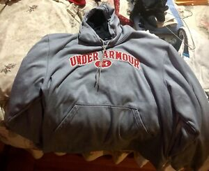 Men's Gray Under Armour Hoodie: Large $30.00