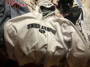 Men's White Under Armour Hoodie: Large $30.00