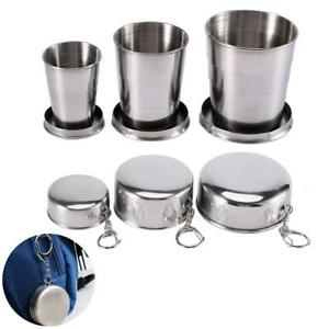 Stainless Steel Folding Cups Telescopic Collapsible Outdoor Camping Drinking Cup