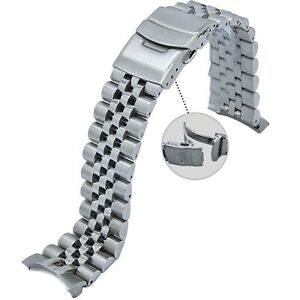 22MM 316L Solid Jubilee Stainless Steel Watch Band Made to Fit Orient Mako  $39.99