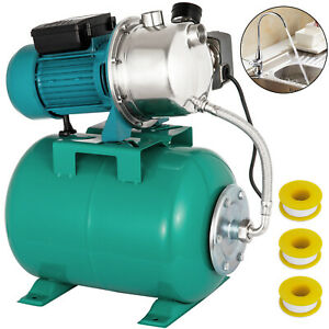 1 HP Shallow Well Jet Pump W Pressure Switch 12.3 GPM Booster Water 2800L H