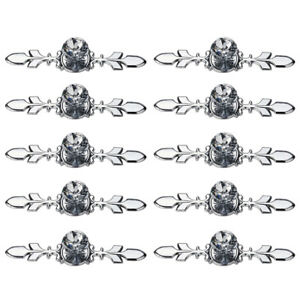 10pcs Crystal Glass Cabinet Knob Diamond Drawer Cupboard Handle Pull 4.8 / 6.7in