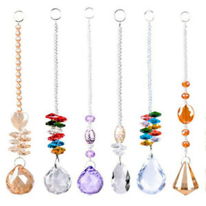 Glass Clear Crystal  Light Ball Prism Hanging Curtain String Window Door Decor