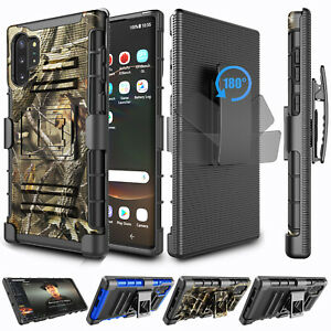For Samsung Galaxy Note 10 Plus S8 S9 S10 Plus Case with Belt Clip Holster Cover